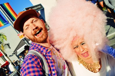 Daan in love with his favorite Drag Queen | Our Photo Story Castro Street Fair San Francisco © CoupleofMen.com