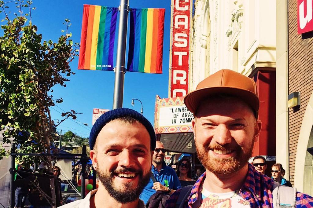 Karl & Daan enjoying the rainbow festival | Our Photo Story Castro Street Fair San Francisco © CoupleofMen.com