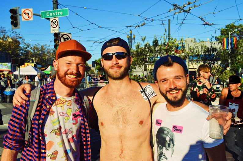 Gay Travel Blogger making new friends in California | Our Photo Story Castro Street Fair San Francisco © CoupleofMen.com