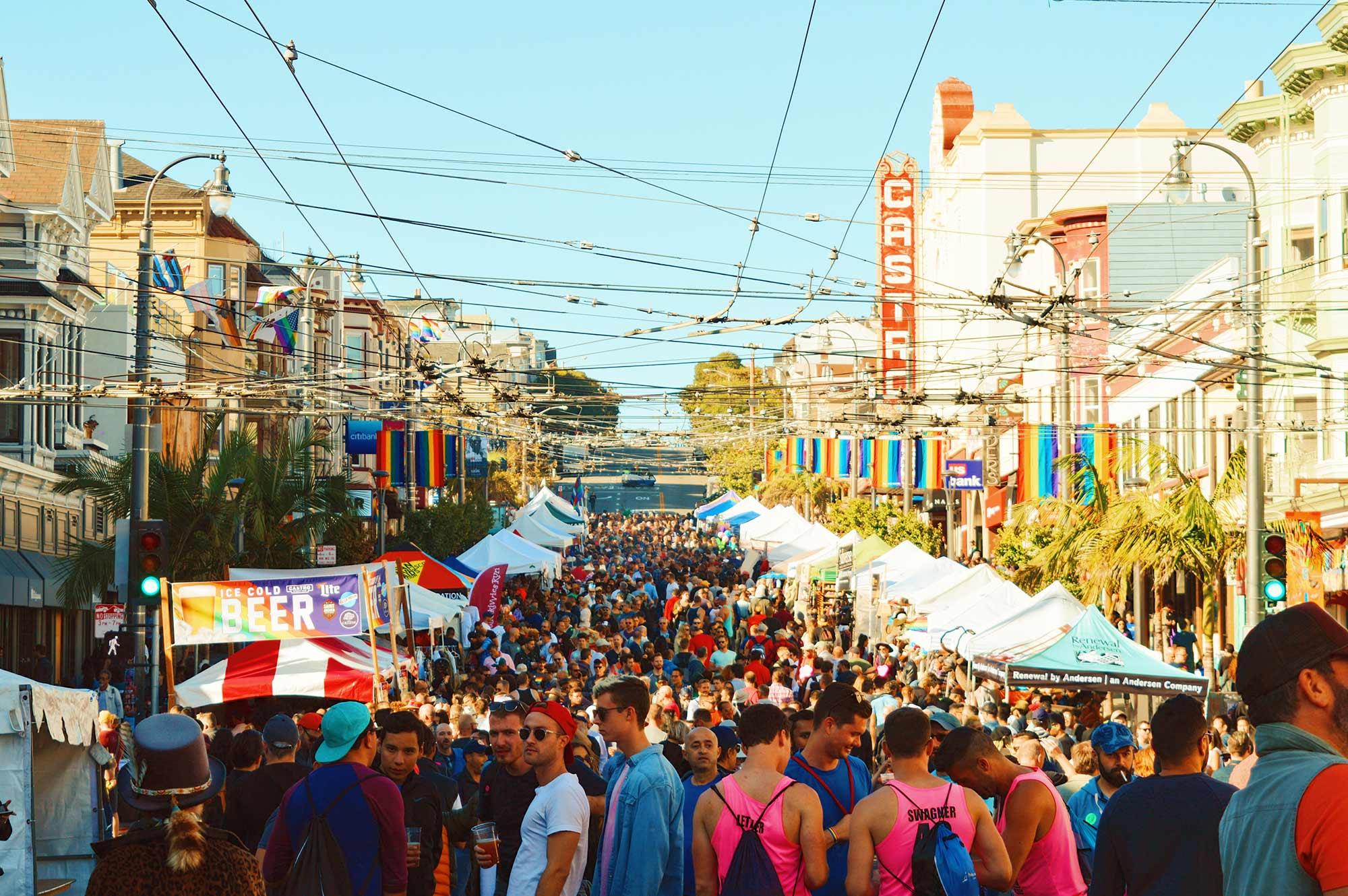 Gay Pride Festival? Well, Castro Street Fair! © CoupleofMen.com