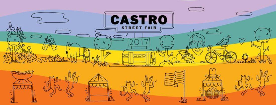 Poster for Castro Street Fair 2017 San Francisco