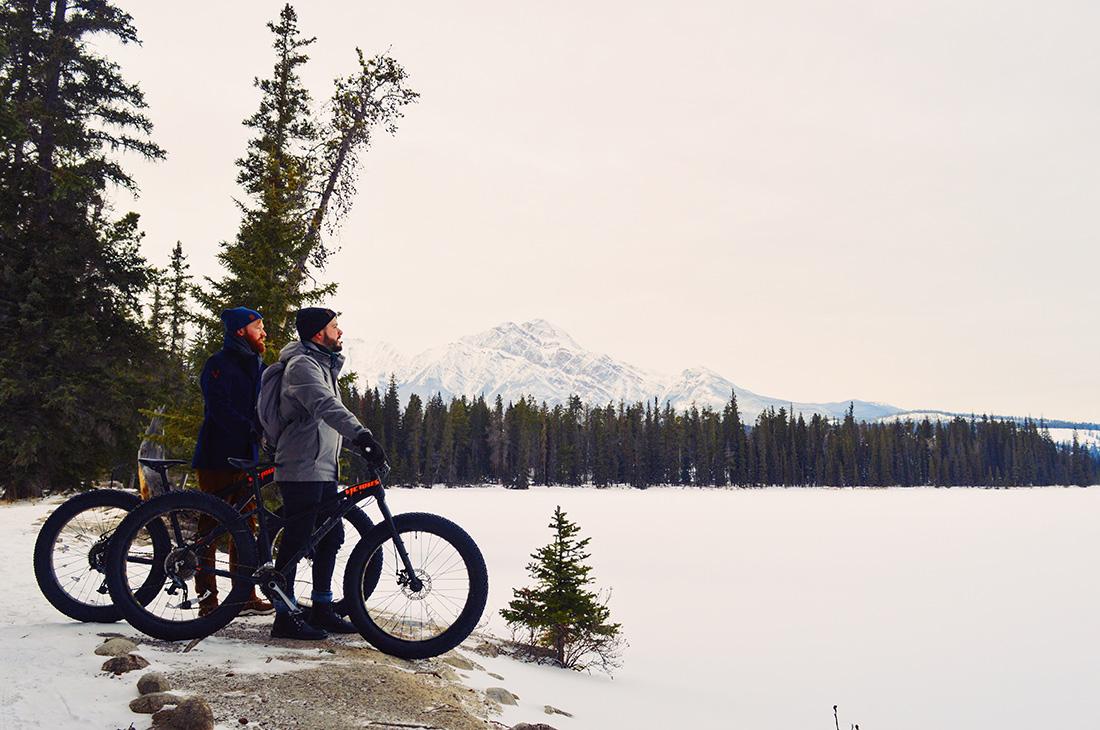 Fat Tire Biking around Fairmont Jasper Park Lodge Alberta Canada © CoupleofMen.com