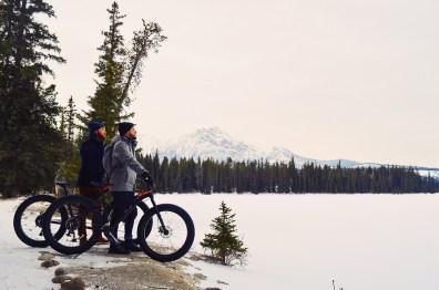 Fat Tire Biking around the Lodge Lake © CoupleofMen.com