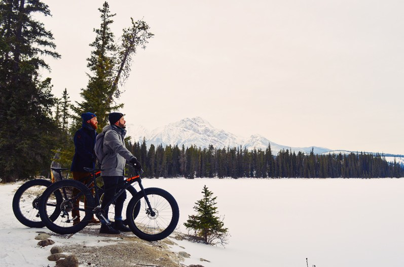 Fat Tire Biking around Fairmont Jasper Park Lodge Alberta Canada © CoupleofMen.com