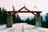 Welcome Gate of the Fairmont Hotel in Alberta Canada Gay-friendly Hotel © CoupleofMen.com