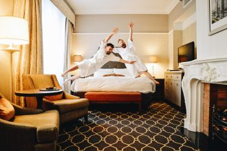 Deluxe Room with Kingsize Bed | Gay-friendly Fairmont Palliser Hotel Downtown Calgary © CoupleofMen.com