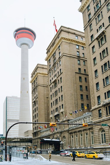 Central located right next to Calgary Tower | Gay-friendly Fairmont Palliser Hotel Downtown Calgary © CoupleofMen.com