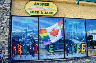 Window Rainbow Decoration Challenge   Highlights Jasper Pride Festival Rainbow Parade Marmot Basin © CoupleofMen.com