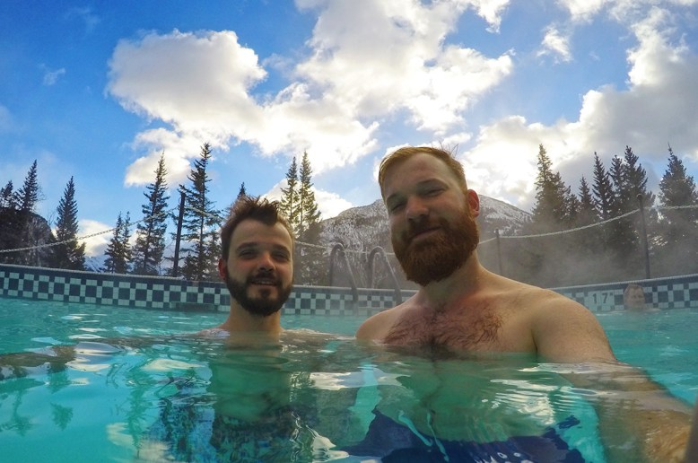 Outdoor Pool with Mountain View | Fairmont Banff Springs Castle Hotel Gay-Friendly © CoupleofMen.com