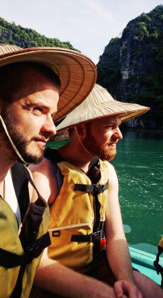 Explorer Karl & Daan on our Halong Bay Adventure | Top Highlights Best Photos Gay Couple Travel Vietnam © CoupleofMen.com