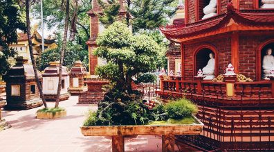Buddhist Temple in Hanoi | Top Highlights Best Photos Gay Couple Travel Vietnam © CoupleofMen.com