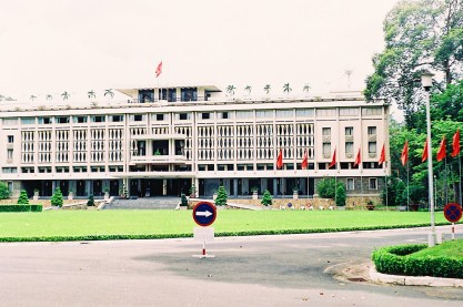 Reunification Palace, District 1 Ho Chi Minh City | Top Highlights Best Photos Gay Couple Travel Vietnam © CoupleofMen.com