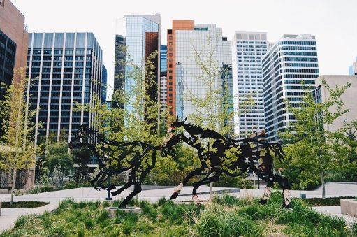 "Harley Hotchkiss Gardens ""Do re mi fa sol la si do""   Photo Tour Parks Public Art Downtown Calgary Alberta © CoupleofMen.com"