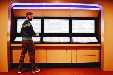 Daan working on the Bridge | Telus Spark Calgary Star Trek Academy Experience © CoupleofMen.com