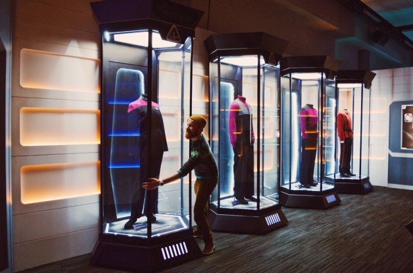 Daan in love: Original Star Trek Captain Uniforms | Telus Spark Calgary Star Trek Academy Experience © CoupleofMen.com