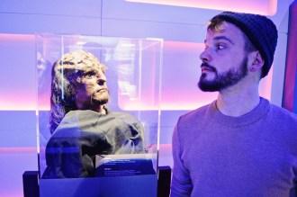 Karl under observation by Klingon | Telus Spark Calgary Star Trek Academy Experience © CoupleofMen.com
