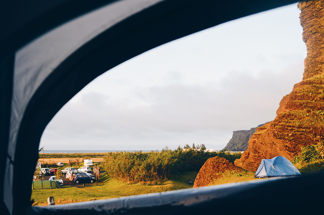 Camping with a view over Vík in South Iceland | Road Trip Adventure Iceland Gay Couple Insider Tips © CoupleofMen.com