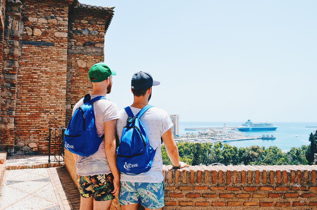 Gay News The Cruise 2017 La Demence Gay Couple Gay Cruise Stopover Malaga Spain © CoupleofMen.com