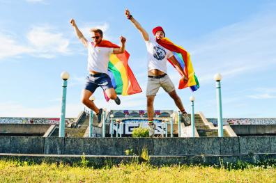 Gay Super Heroes Supergay Baltic Pride 2017 Tallinn Best Powerful LGBTQ Photos © CoupleofMen.com