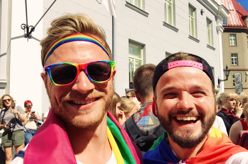 Karl & Sven happy to be part of it! | Baltic Pride 2017 Tallinn Best Powerful LGBTQ Photos © CoupleofMen.com
