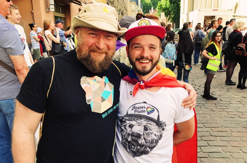 Handsome gay men during Baltic Pride 2017 Tallinn Best Powerful LGBTQ Photos © CoupleofMen.com