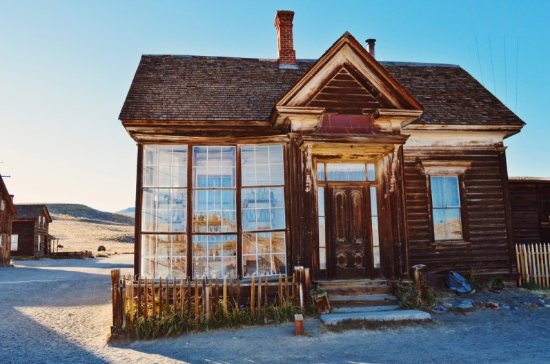 """Mirror photos old town Bodie """"Old Gold"""" 