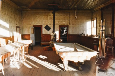 The Saloon in Bodie with billiard/pool table | Ghost Town Bodie State Historic Park California © CoupleofMen.com