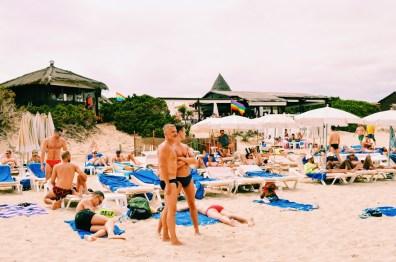 Gay Travel Ibiza More Sexy Gay Men at Ibiza Gay Beach | Gay Couple Travel Gay Beach Ibiza Town Spain © CoupleofMen.com