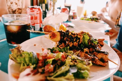 Gay Travel Ibiza Delicious food at Chiringay Ibiza | Gay Couple Travel Gay Beach Ibiza Town Spain © CoupleofMen.com