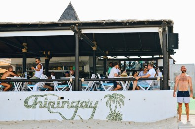 Restaurant Chiringay at the Gay Beach Ibiza | Gay Couple Travel Gay Beach Ibiza Town Spain © CoupleofMen.com