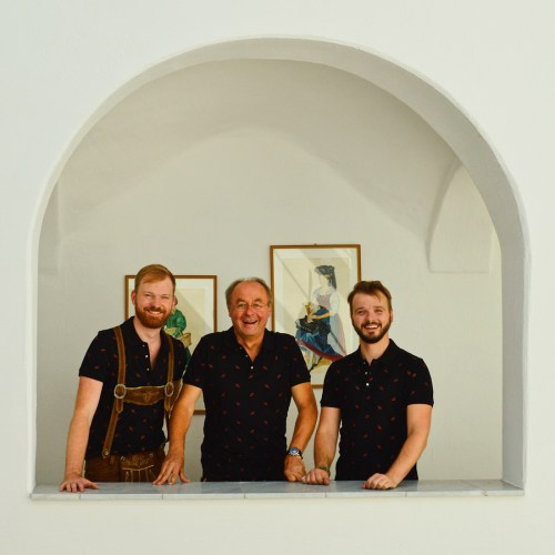 Karl & Daan meeting and dressing with Reg. R. Dir. Ewald Opetnik | Lederhosen Tips Traditional Austrian Garments © CoupleofMen.com