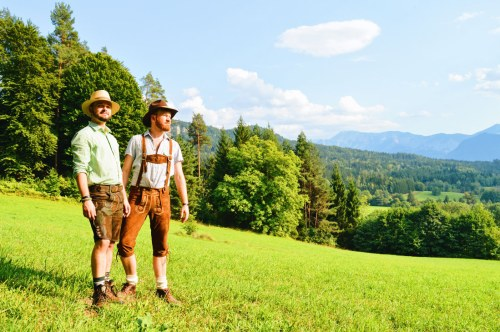 Gay Couple Men Lederhosen Alps Best of Pink Lake Festival 2017 Photos Videos © Coupleofmen.com