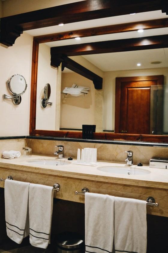 Luxurious bathroom with bath and shower © CoupleofMen.com