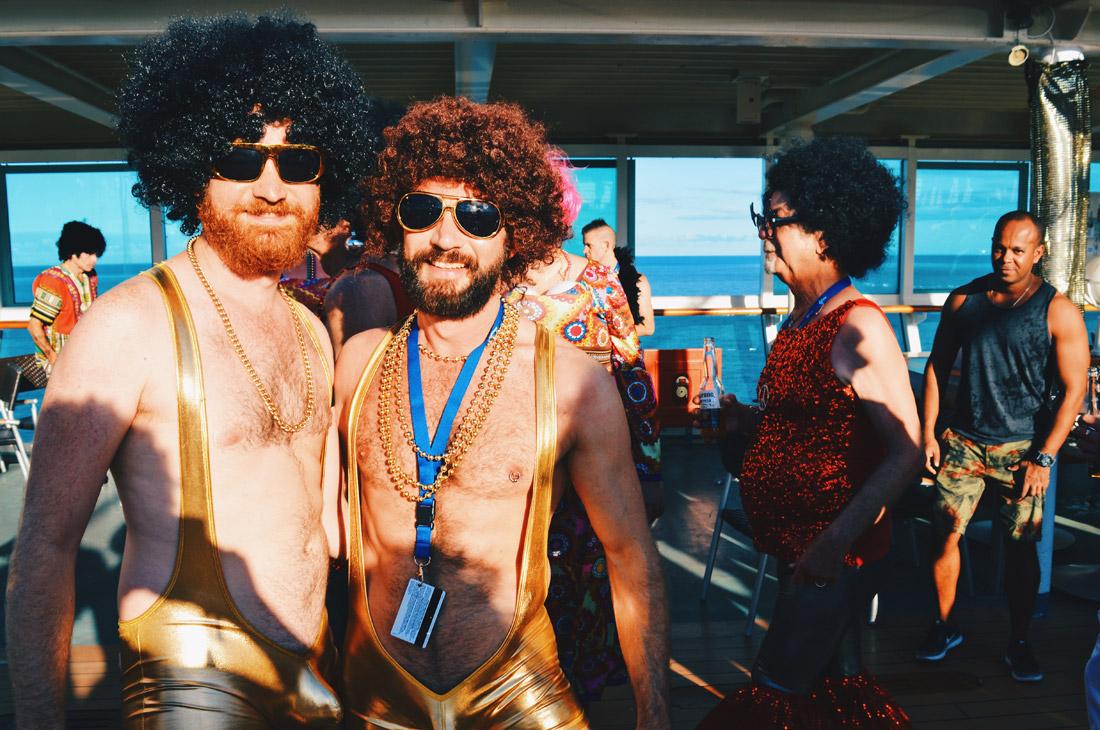 Disco Twins? | Disco T-Dance Party The Cruise 2017 © CoupleofMen.com