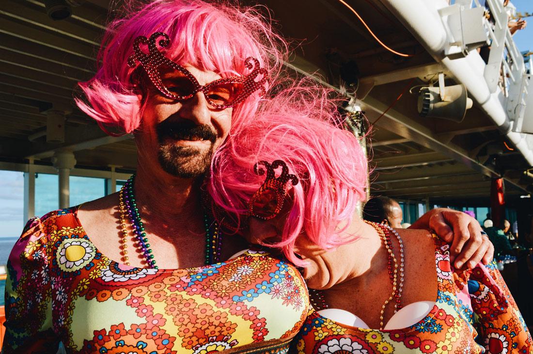 Gay Couple Partner Dresses | Disco T-Dance Party The Cruise 2017 © CoupleofMen.com