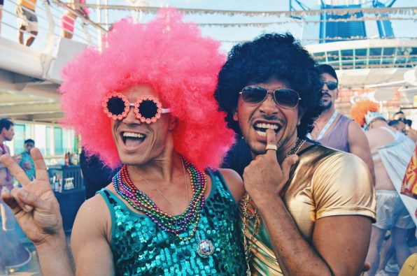 Pink Disco Boys of The Cruise | Disco T-Dance Party The Cruise 2017 © CoupleofMen.com
