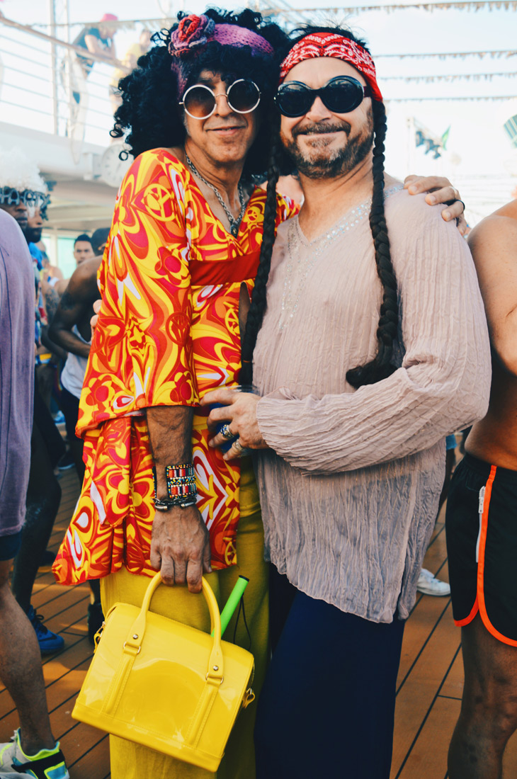 Flower Power meets Disco | Disco T-Dance Party The Cruise 2017 © CoupleofMen.com