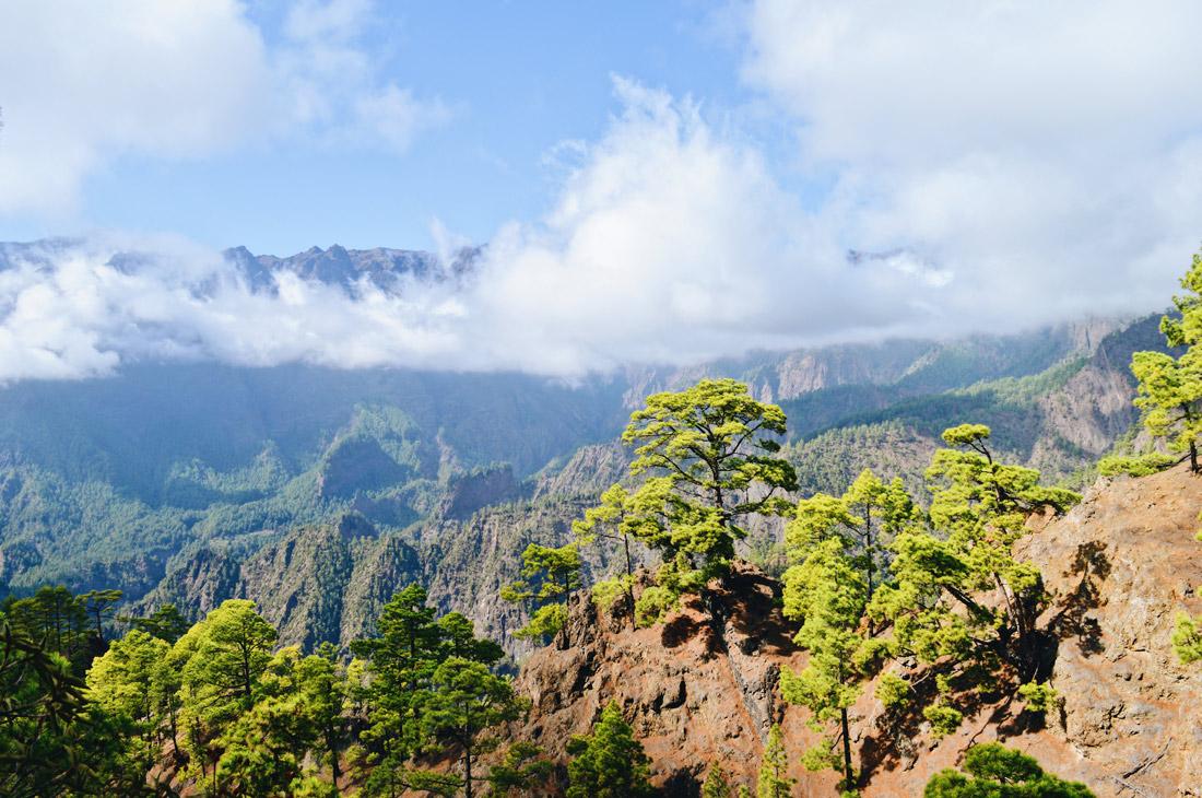 View over the Caldera Taburiente on La Palma © CoupleofMen.com
