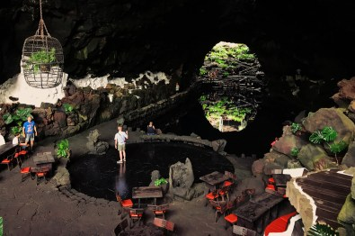 Underground Lava Lake at Jameos del Agua Lava Tube, Lanzarote | Gay Couple Travel Diary The Cruise 2017 © CoupleofMen.com