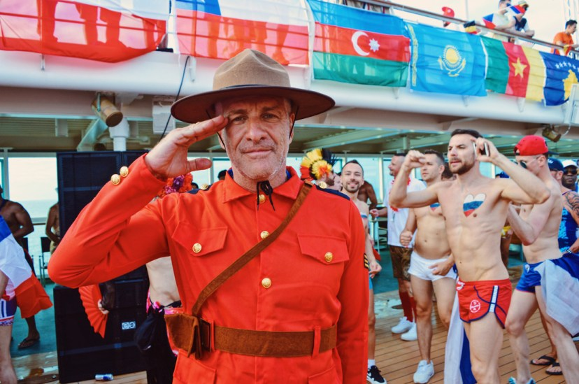 Saluting Canadian Ranger | Where are you from Party The Cruise 2017 © CoupleofMen.com