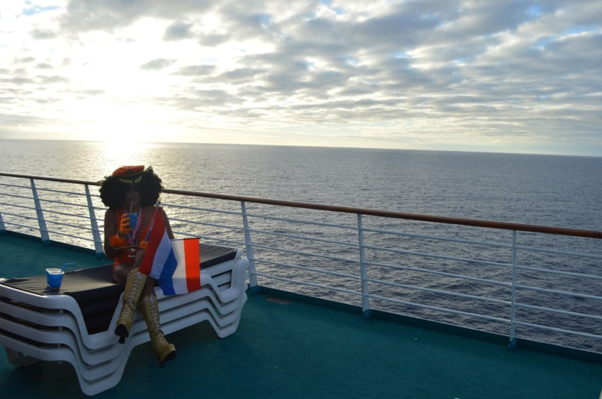 Dutch Beauty watching the Sunset   Where are you from Party The Cruise 2017 © CoupleofMen.com