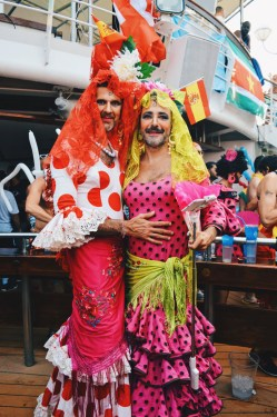 Two colorful Chica   Where are you from Party The Cruise 2017 © CoupleofMen.com