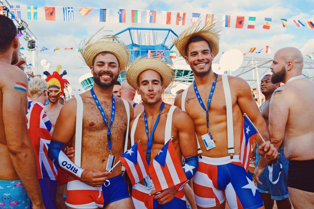 """The """"Where are you from"""" Party during The Cruise 2017 © CoupleofMen.com"""