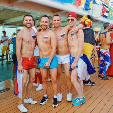 Four Russian Men by heart | Where are you from Party The Cruise 2017 © CoupleofMen.com