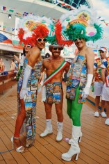 Every year again: The costumes of the wonderful Italians | Where are you from Party The Cruise 2017 © CoupleofMen.com