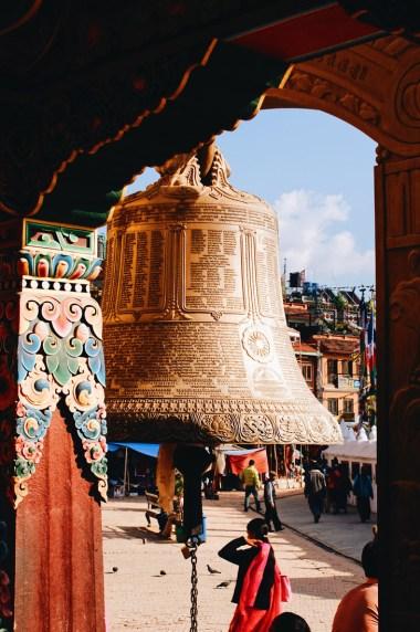 Prayers bell at Boudhanath Stupa   Gay Travel Nepal Photo Story Himalayas © Coupleofmen.com