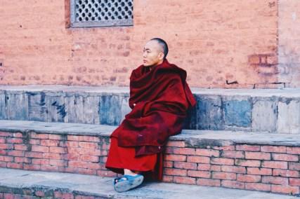 Monk at Swayambhunath - Temple   Gay Travel Nepal Photo Story Himalayas © Coupleofmen.com