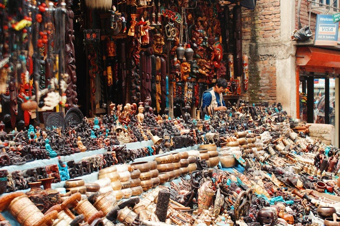 Historic shops in Kathmandu | Gay Travel Nepal Photo Story Himalayas © Coupleofmen.com