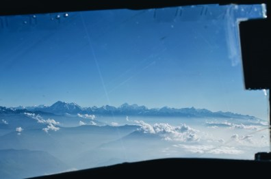 View over the Himalayas through the cockpit of Yeti Airlines Plane 2 | Gay Travel Nepal Photo Story Himalayas © Coupleofmen.com