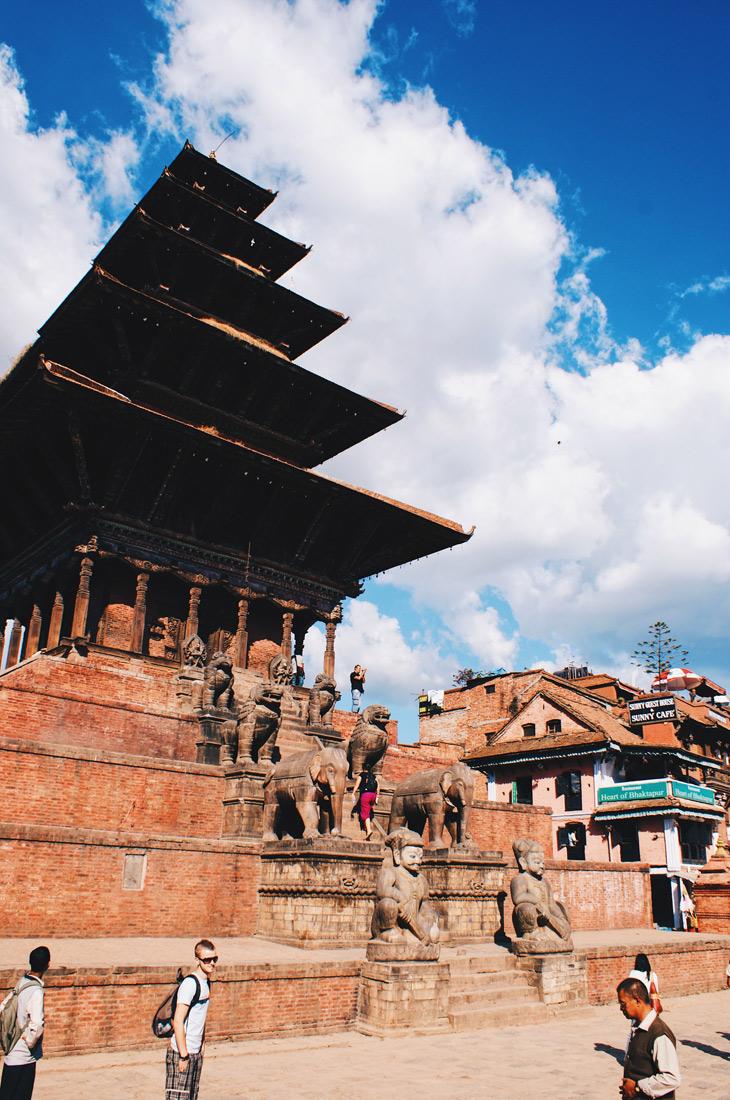 Nyatapola-Temple in pagoda-style in Bhaktapur | Gay Travel Nepal Photo Story Himalayas © Coupleofmen.com